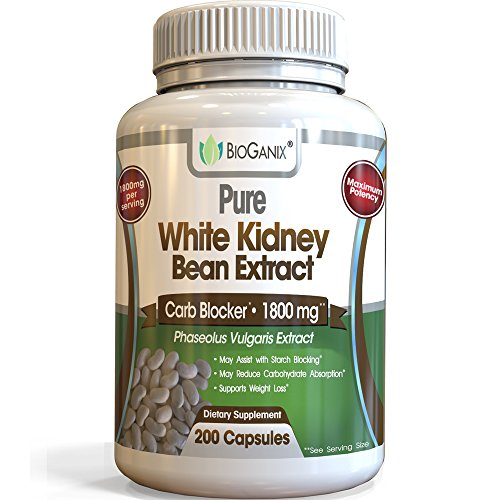Carb Blocker to Aid Weight Loss Management | Pure White Kidney Bean Extract...