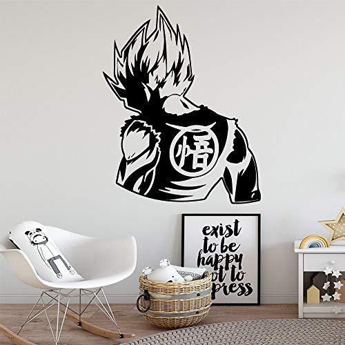 Film Dragon Ball Wandaufkleber Goku Coole Jungen Zimmer Schlafzimmer Kinderzimmer Home Decoration Naruto Wandaufkleber Cartoon Anime 57x71cm