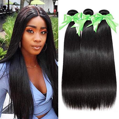 Lananel Brazilian Human Hair Bundles 100% Menschliches Haar 16 18 20 inch Straight Hair 3 Bundles Human Hair Extension Brasilianisches Haar Bündel Straight Weave Hair 300g/lot