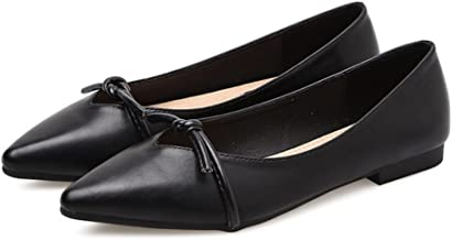 [クツのクロダ] レディース 靴 パンプス ローカット シューズ ポインテッドトゥ フラットシューズ カジュアル 新品