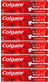 Colgate Optic White Whitening Toothpaste, Sparkling White - 5 Ounces (6 Pack)