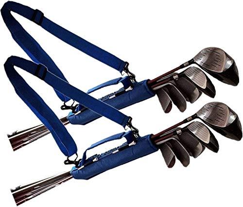 FINGER TEN Golfbag Mini Carrybag Tragebag Leichte für Herren Damen Kinder Golfschläger-Umhängetasche Travelite Blau Pink Schwarz 1 Pack or 2 Pack(Blau 2 Pack)