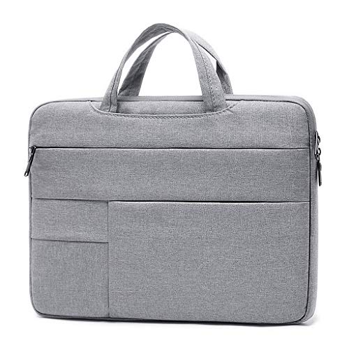 XuYuanjiaShop Laptop Bag 14inch 15.6 Inch Laptop Case Laptop Bag, Multi-functional Notebook Sleeve Carrying Case Ultra-thin Business Handbag Tablet Laptop Sleeve (Color : Gray, Size : 15.6 Inch)