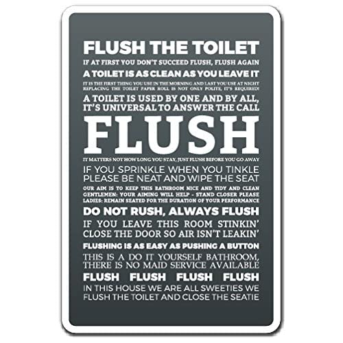 picture regarding Printable Bathroom Etiquette Signs titled Toilet Indicator Amusing: