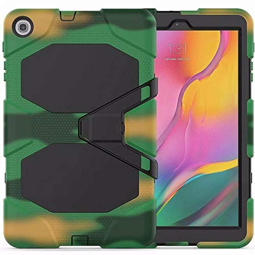 Case for Samsung Galaxy Tab A 10.1 (2019) - Heavy Duty Rugged Case - Drop Proof Protective Cover - Camouflage