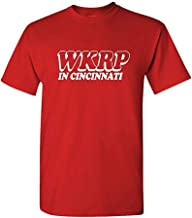 XFPrint66 WKRP Cincinnati - 70's Retro tv Comedy Show - Mens Cotton T-Shirt Funny Design Red