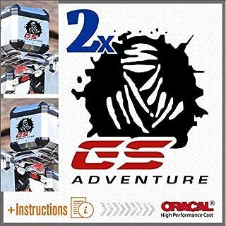 2pcs Dakar GS Adventure Adhesivos R 1200 1150 F 800 650 F700 GS A R1200GS R1200 Motorrad Touratech Motorcycle Givi Trekker Outback Aluminium Panniers Bolsas Laterales Top Case (Black/Red)