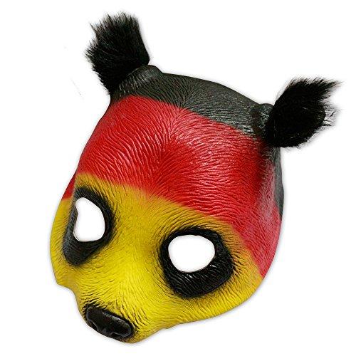 shoperama Panda - Mscara de ltex, color negro, rojo y dorado