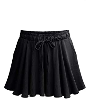 Howely Women's Cozy Baggy Wide Leg Solid-Colored Plus Size Hot Pants