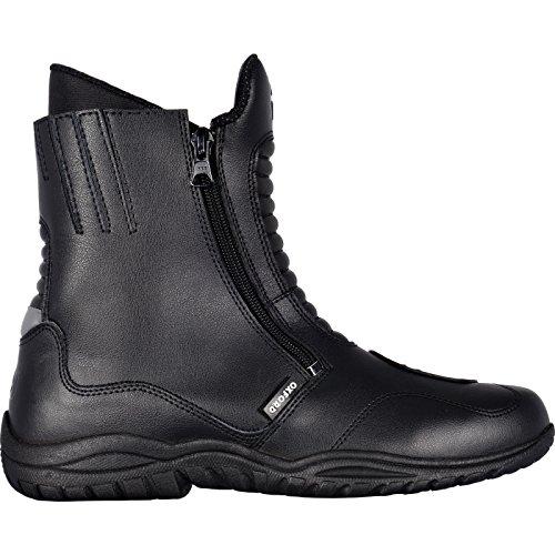 Oxford Warrior - Botas de piel para motocicleta, impermeables, color negro, talla 46