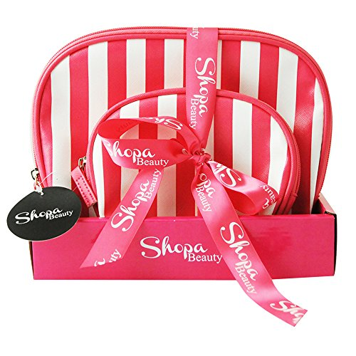Gloss! Shopa Beauty - Geschenk-Box - Toilettentasche - Pink Premium Gestreifte Make-Up Kits