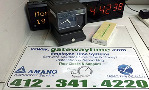 G&G Compatible Time Clock Ink Ribbon Replacement for Amano Pix-3000x Pix-55 TCX-11 Black, 3-Packs