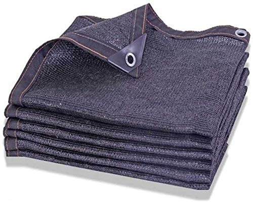 Sun Sail Shades for Garden Heavy Duty Sun Shade Cloth 75% Uv Resistant Sunblock Mesh Shade Black Garden Shade Mesh Tarp For Pergola Kennel (Color : Black, Size : 10x12m(32.8x39ft))