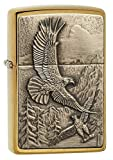 Zippo 20854 Where Eagles Dare Brushed Brass Pocket Lighter, Brushed Brass Where Eagles Dare