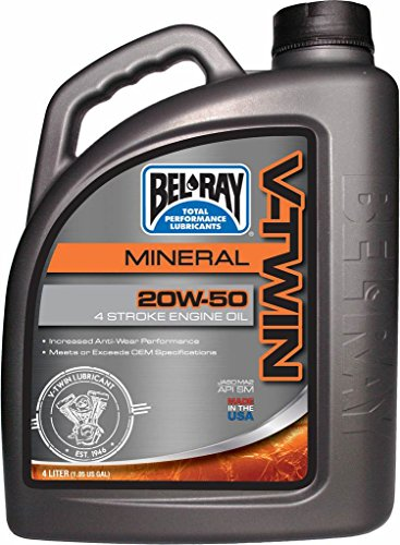 BEL RAY - 36046 : Garrafa 4 L Aceite Bel-Ray Motor 4T V Twin V-Twin Mineral 20W-50