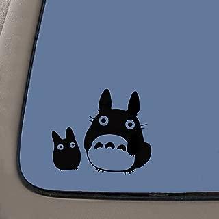 NI195 Totoro Black Decal Studio Ghibli Sticker Decal Notebook Car Laptop 5.5