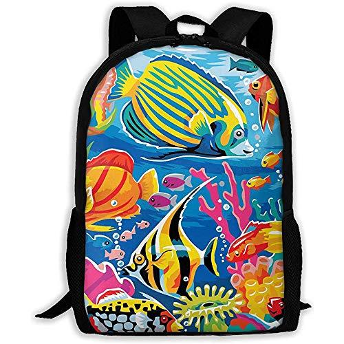 Kimi-Shop Zaino della Scuola Zaino per Adulti di Sport subacqueo per Adulti