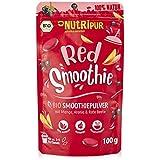 BIO Smoothie Pulver: 100g Red Smoothie Pulver mit Mango, Bio Rote Beete Pulver, Hagebutten Pulver, Bio Aronia Powder uvm. – Roter Smoothie Mix – Bio Smoothiepulver Mix für Drink Food von NutriPur