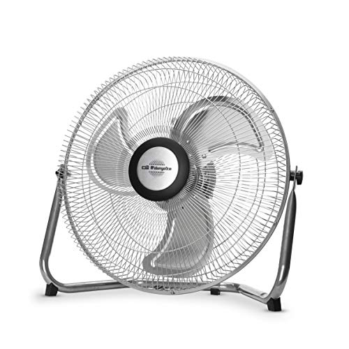 Orbegozo PW 1240 - Ventilador industrial Power Fan, inclinación regulable, aspas metálicas de 40 cm, 3 velocidades de ventilación, asa de transporte, 80 W