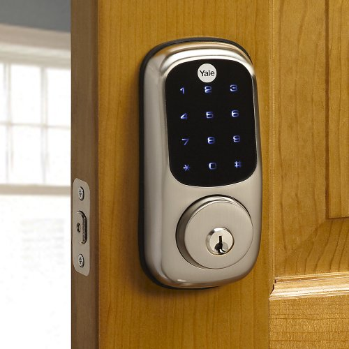 Yale Touchscreen Deadbolt with Z-Wave in Satin Nickel, Works with Alexa via SmartThings and Wink...