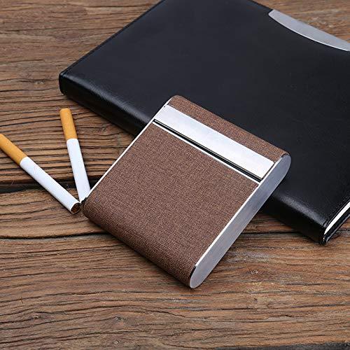 AFD Czz Zigarettenetui, Senden Usb Ladefeuerzeug, Kann 20 Zigaretten, Tragbare Kreative Edelstahl, Männliche Und Weibliche Persönlichkeit Flip,C,Zigarettenschac