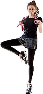 BRRAEL スポーツウェア レディース ヨガウェア 半袖 パンツ 2点 半袖 スポーツブラ パンツ 3点 スーツ 半袖 スポーツブラ パンツ 4点セット