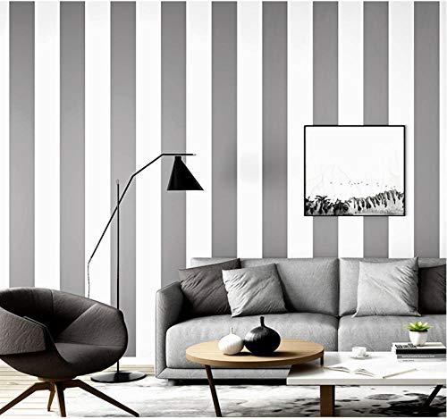Nordischen Stil Grau Schwarz Und Weiß Vertikale Streifen Tapete Modernen Minimalistischen Wohnzimmer Schlafzimmer Bekleidungsgeschäft Hintergrund Tapete 10 mt X 0,53 mt