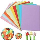 Papel de construcción de colores 100 hojas A4 Papel de copia de papel de manualidades de colores 8,5 x 11 Papel de construcción de caramelos..