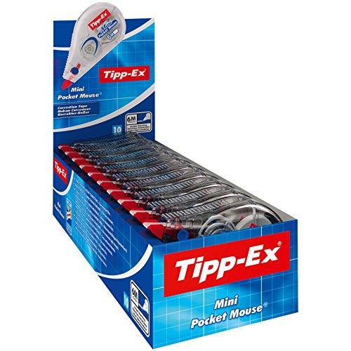 Tipp-Ex Mini Pocket Mouse Corrective Tape - 6 mx 5 mm, Box of 10 units
