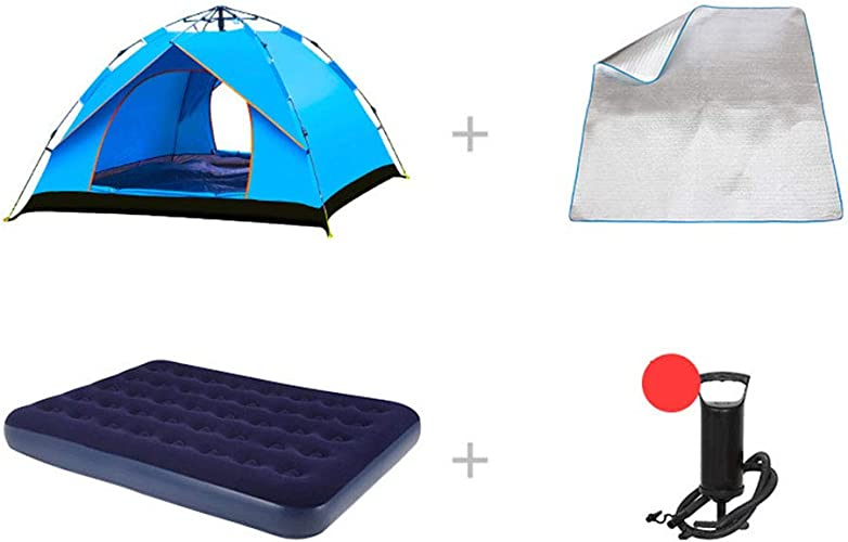 1-1 Tente d'alpinisme + lit Double Gonflable 3-4 Personnes en extérieur épaissir Imperméable Camping Sauvage équitation Pêche Aventure Tente,C