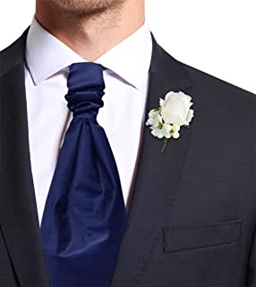 Remo Sartori - Cravattone Plastron Cravatta Sposo da Cerimonia in Seta Tinta Unita, Made in Italy, Uomo