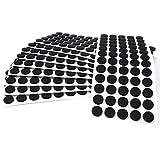 Adsamm®   600 x almohadillas de fieltro   Ø 14 mm   negro   redondo   Protectores de suelo para patas de mueble   auto-adhesivos   con grosor de 3,5 mm de la máxima calidad