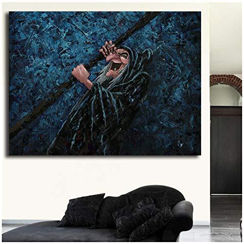 Sneeuwwitje en de zeven dwergen Hag donkerste magische Canvas schilderij Print slaapkamer Home Decor moderne Wall Art schilderij Poster-60x90cm geen Frame