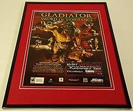 Gladiator Sword of Vengeance 2003 XBox PS2 Framed 11x14 ORIGINAL Advertisement