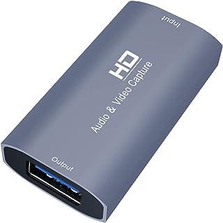 Ronyme Dispositivo de Placa de Captura de áudio E Vídeo HD USB para Ensino de Gravação para PC Phone