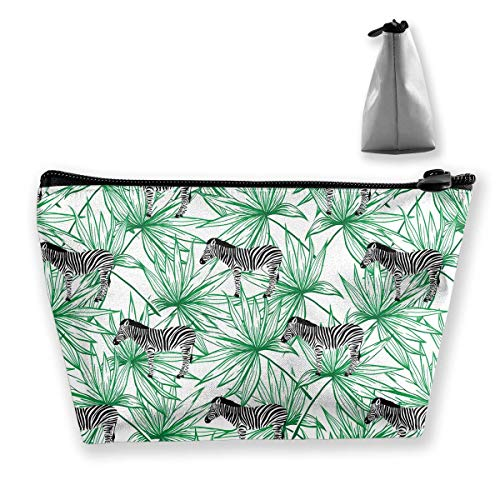 Trapezoid Storage Bag Buggy Bag Travel&Home Bag - Wild Animal Zebra Pattern Printed Cosmetic Bags Toiletry Bag Make-up Receive - Stylish