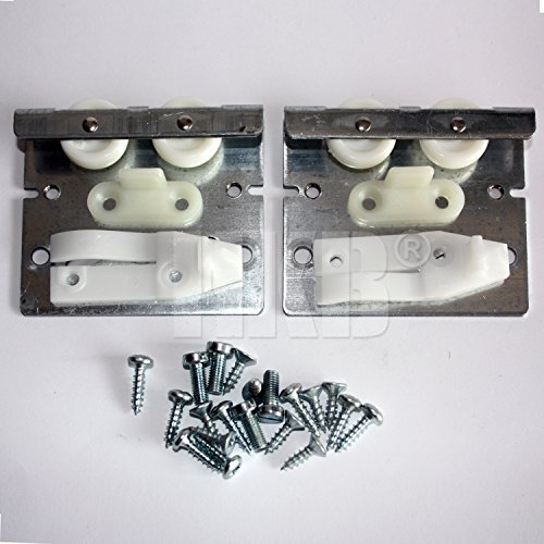 1 xr Top Line 3 Schiebetürbeschlag für seitengeführte oder nutgeführte Zimmertüren < 40kg, Metall mit Kunststoffrollen, Montagesatz für 1 Tür inkl. Befestigungsmaterial, Hettich, Artikelnr. 1486