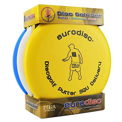 Eurodisc Disc-Golf Einsteiger Starter Set PDGA Approved, Putter Midrange Driver Disc Mix
