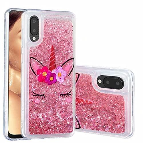 Funda para Samsung Galaxy S21 Plus, para niñas y mujeres, con purpurina 3D, diseño de unicornio