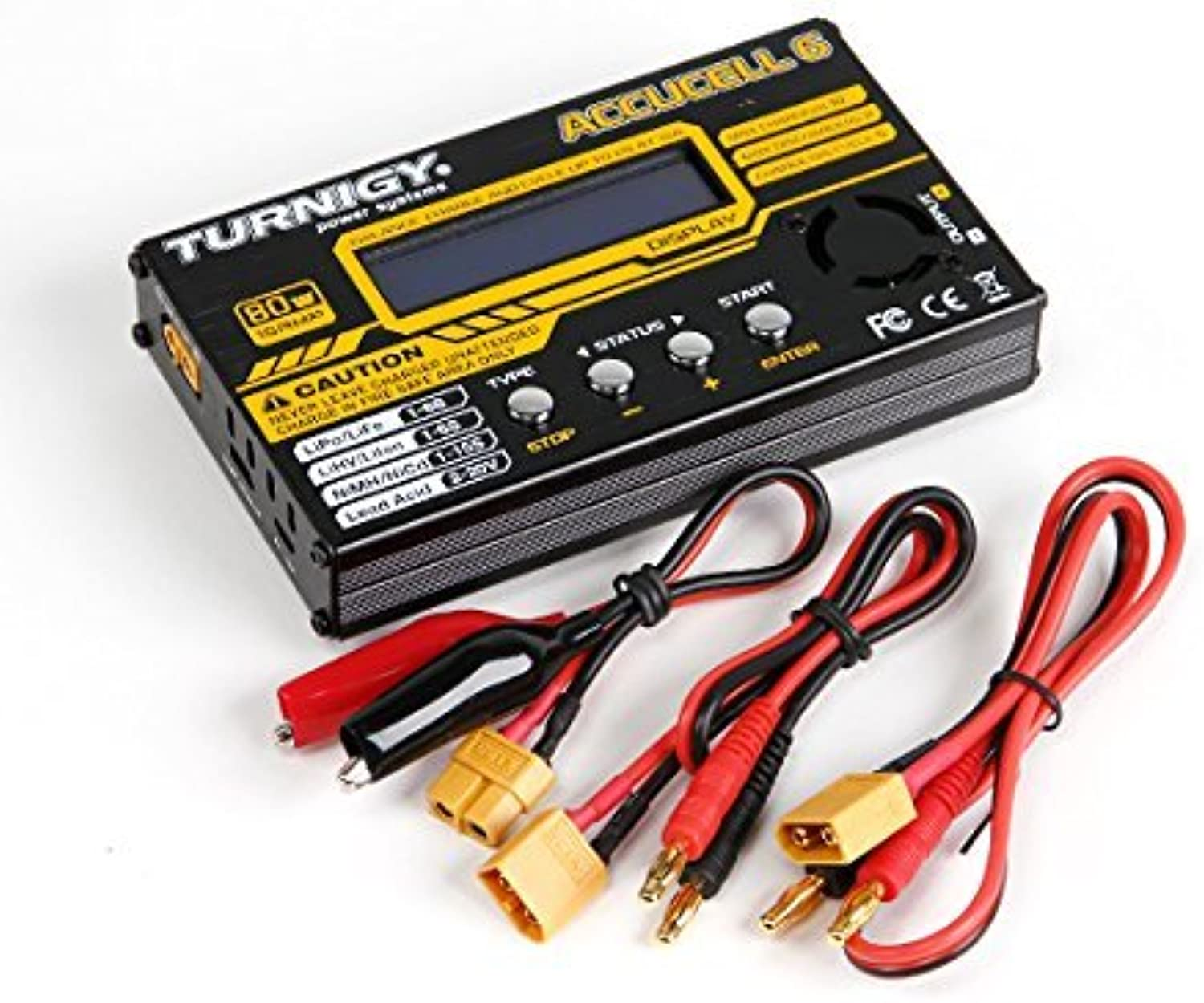 Turnigy Accucel6 80W 10A Balancer Charger LiPo LiFe NiMh NiCd JSTXH