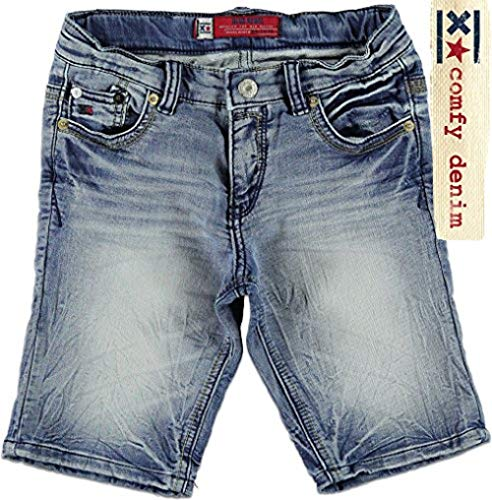 Blue Rebel Jungen Jeans-Bermuda Carpenter Bleach wash, Blau, Größe 140