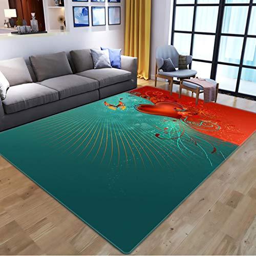 Nordic 3D Flowers Butterflies Print Teppiche, Cartoon Animal Kids Spielmatte, Wohnzimmer Langlebiger rutschfester Teppich 140 * 200 cm