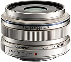 Olympus M.Zuiko Digital 17mm F1.8 Lens, for Micro Four Thirds Cameras (Silver)