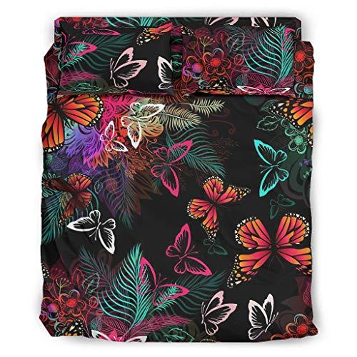 Generic Branded Juego de funda de edredón y 2 fundas de almohada y 1 colcha para dormitorio de niñas, color blanco, 240 x 264 cm
