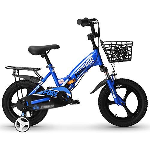 Bicicleta para Niños con Ruedas De Entrenamiento Bicicletas para Niños 14/16/18 Pulgadas Scooter Plegable De Equilibrio Deslizante con Doble Freno para Niños Y Niñas
