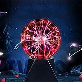 Bola de Plasma Magica 5 Pulgadas, Bola Plasma Grande Xl, Luces Decorativas Sensibles Al Tacto Activadas Por Sonido Alimentadas Por Usb,Bola MáGica Para Fiestas Decoraciones Atrezzo Regalos Infantiles