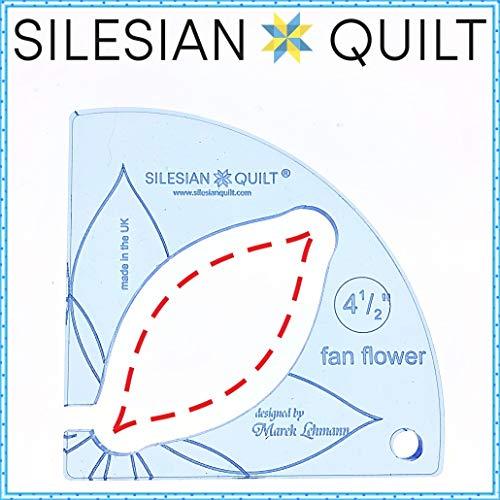 Silesian Quilt modello per quilting fan fiore per 4,5 pollici Block