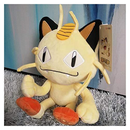 CHENPINBH Plüschtiere Anime Games Meowth Plüsch Spielzeug Gefüllte Puppe Weiche Kissen 30 cm Schöne Kinder (Color : Meowth, Height : 30CM)