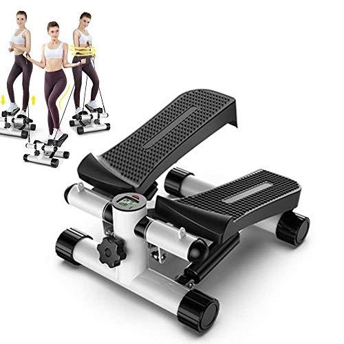 Cxmm Stepper Exercise Machine Step Mini, Stepper Aerobic Motor Stepper Multi-función Mute Adelgazante con Cuerdas eléctricas para el hogar Fitness, A