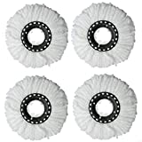 Mop Replacement Head, 4 Pack Microfiber 360 Spin Mop Refill Head Replacements